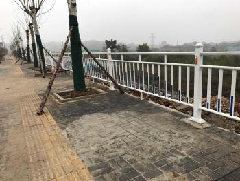 贵阳天河潭大道道路护栏施工