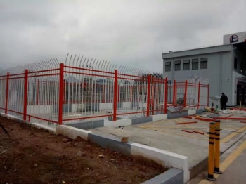 高速加油站锌钢栏杆工程